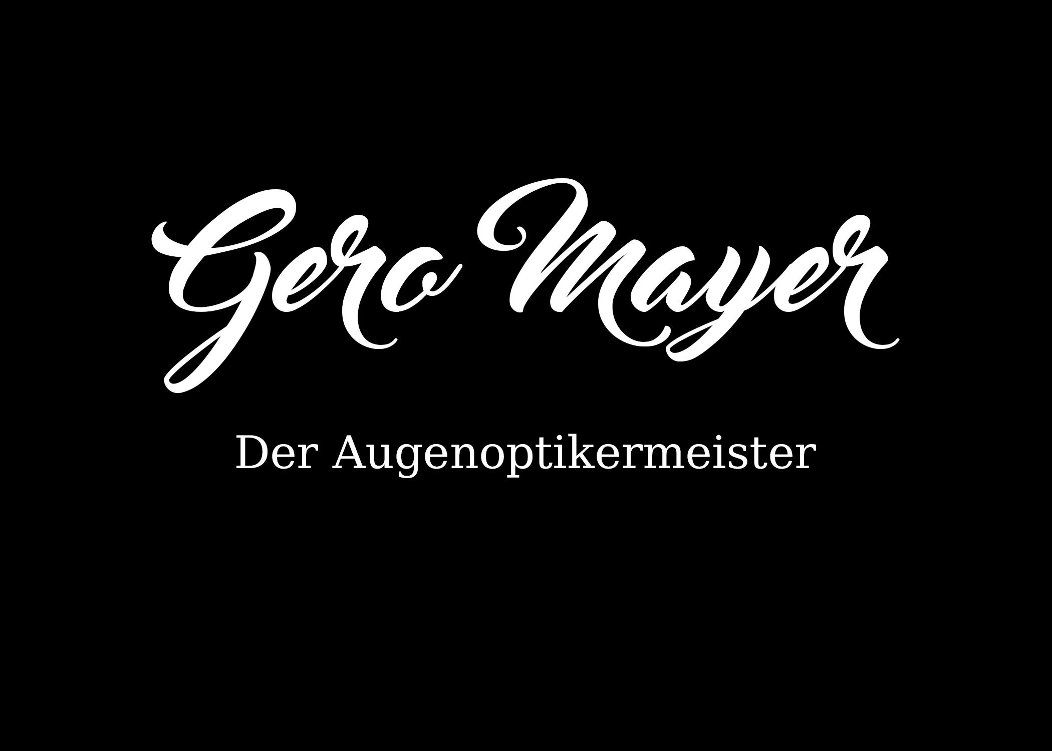 Gero Mayer Keratokonus Spezialist